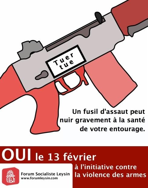 Tuer tue, un fusil d'assaut peut nuire gravement à la santé de votre entourage