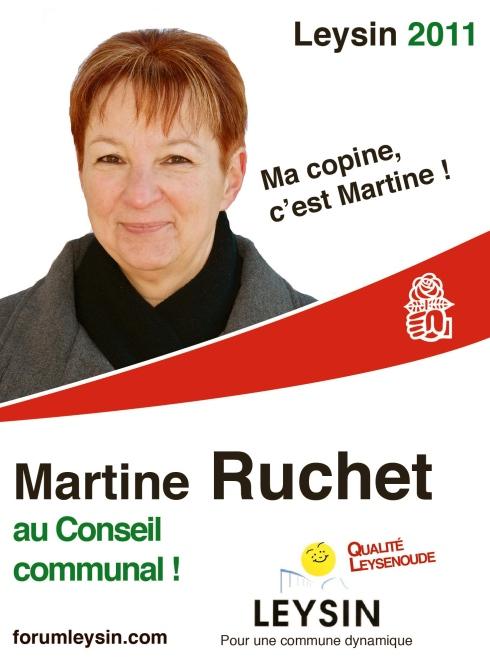 Ma copine, c'est Martine Ruchet, au conseil communal et municipal de Leysin