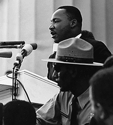 Martin Luther King pendant son discours I have a dream