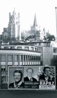 Béatrice Métraux, Emmanuel Gétaz et Pierre-Yves Rapaz, candidats à l'élection cantonale complémentaire pour le conseil d'Etat vaudois