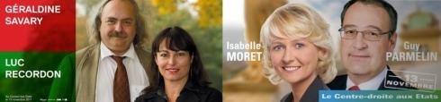 Elections fédérales 2011 canton de Vaud : Géraldine Savary, Luc Recordon, Guy Parmelin et Isabelle Moret aux Etats