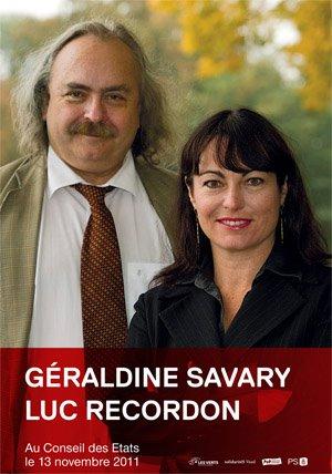 Géraldine Savary et Luc Recordon au conseil des Etats (canton de Vaud)