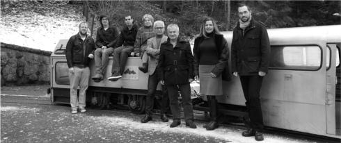 Photographie de groupe des candidats socialistes et POP Aigle mine de sel Bouillet Bex VD2012